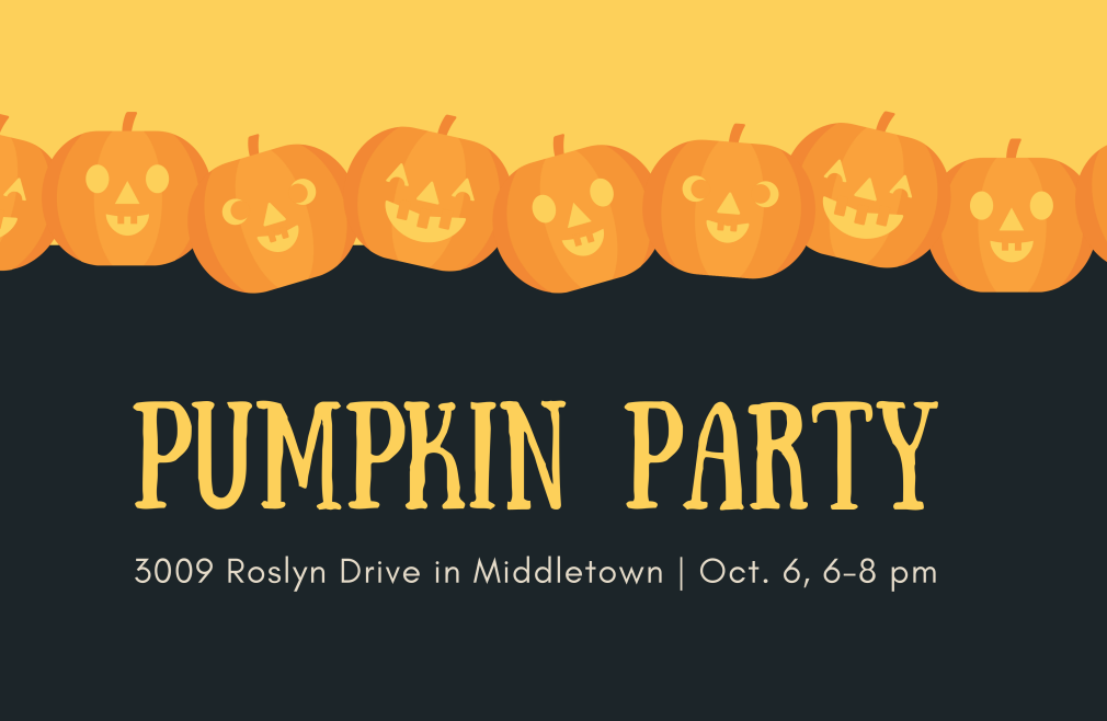 Youth: Pumpkin Party